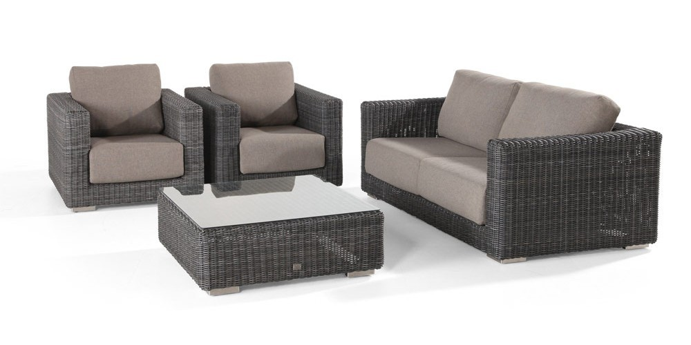 somerset lounge set polyrattan sofa sessel und tisch. Black Bedroom Furniture Sets. Home Design Ideas