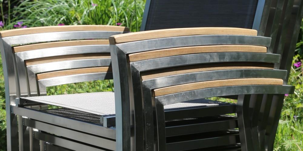 nexxt edelstahl outdoor stapelstuhl gartenstuhl. Black Bedroom Furniture Sets. Home Design Ideas