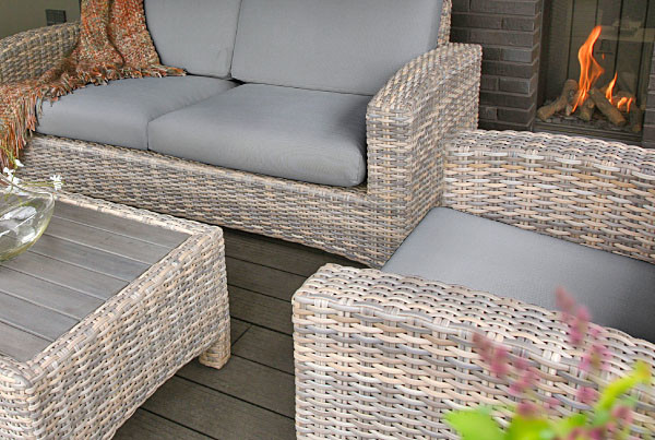 Mambo Living Lounge | Polyrattan 2,5 Sitzer Sofa und Sessel
