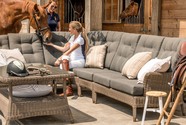 Buckingham Modul Lounge aus Hularo® Faser