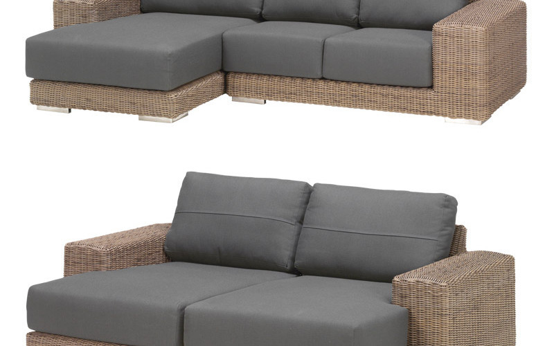 hochwertiges kingston lounge sofa aus hularo geflecht On gartenmöbel lounge sofa