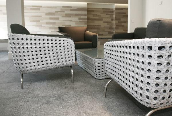 Luton Lounge aus Hularogeflecht