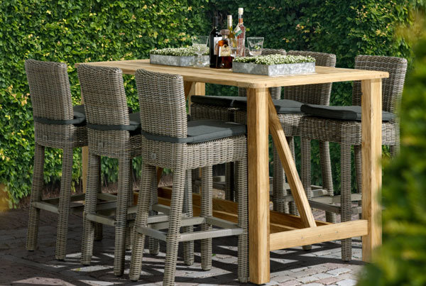 Wales | Geflecht outdoor Barhocker