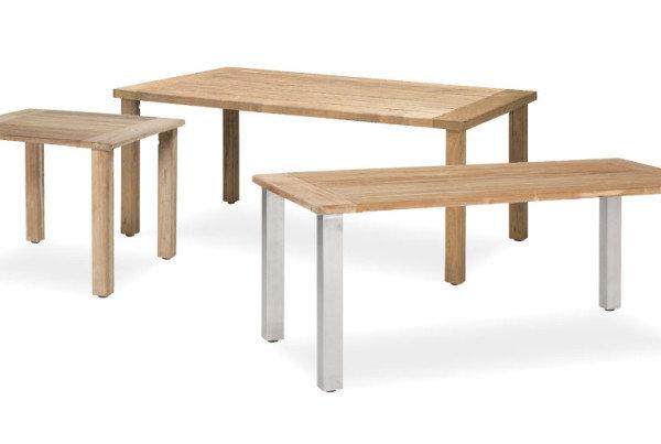 Casa – Der robuste Gartentisch mit Edelstahl oder Teakholz