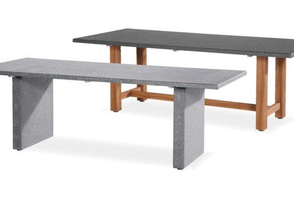 Lazio Tisch Granitoptik oder Teakholz