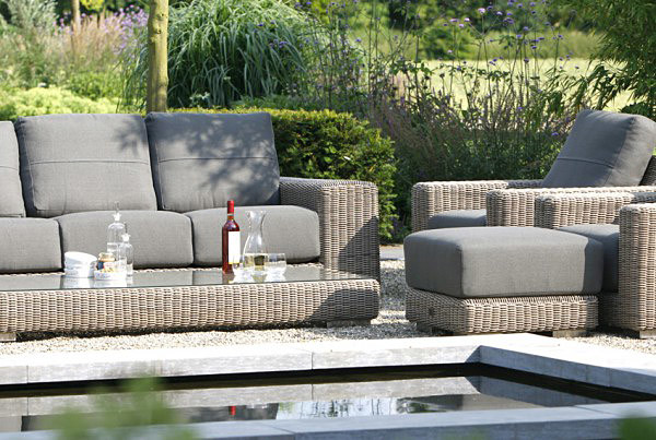 Kingston Lounge Sofa aus Hularo® Geflecht
