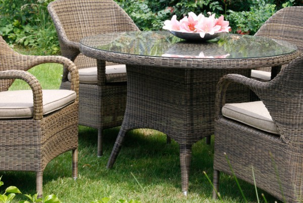 Sussex Dining | Polyrattan outdoor Esstischgarnitur