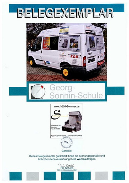 Georg Sonnin Schule Sponsoring
