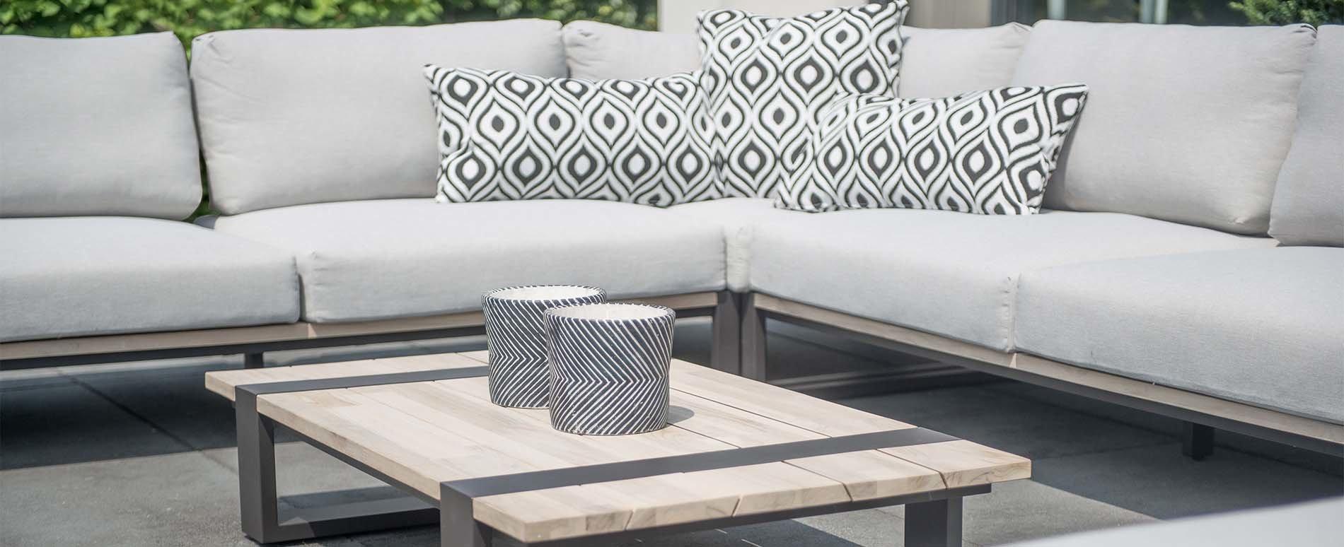 Duke lounge sofa module teakholz aluminium bequeme - Bequeme gartenmobel ...
